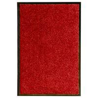 vidaXL Deurmat wasbaar 40x60 cm rood