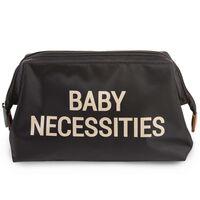 CHILDHOME Toilettas Baby Necessities zwart goudkleurig
