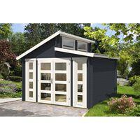 Carlsson tuinhuis met dubbele lessenaarsdak model Vinea-40