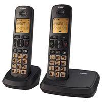 Fysic Seniorentelefoon draadloos FX-5520 dubbel zwart