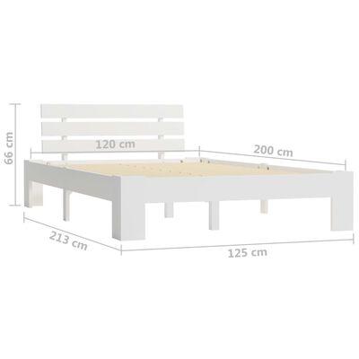 vidaXL Bedframe massief grenenhout wit 120x200 cm