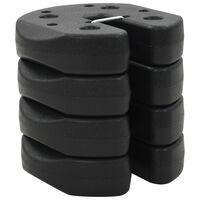 vidaXL Paviljoengewichten 4 st 220x30 mm beton zwart
