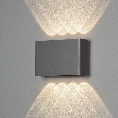 KONSTSMIDE Wandlamp Chieri LED 1x8 W antraciet