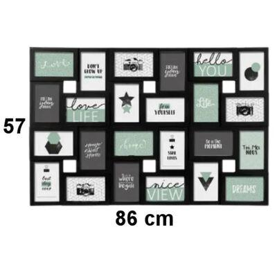 Decopatent XL Fotolijst Collage voor 24 Foto's van 10x15 en 15x10 Cm
