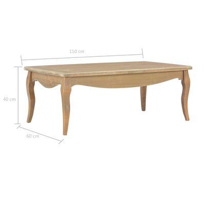 vidaXL Salontafel 110x60x40 cm massief grenenhout