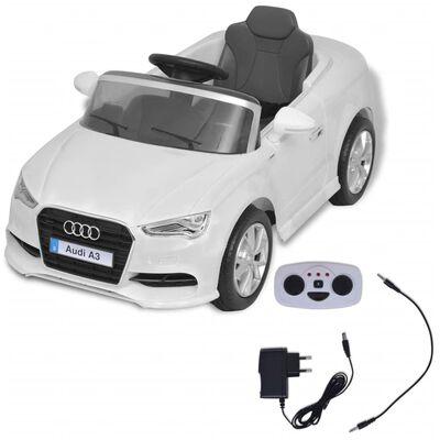 vidaXL Elektrische speelgoedauto met afstandsbediening Audi A3 wit