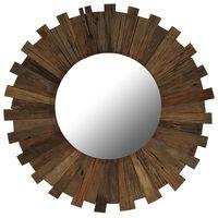 vidaXL Wandspiegel 70 cm massief gerecycled hout