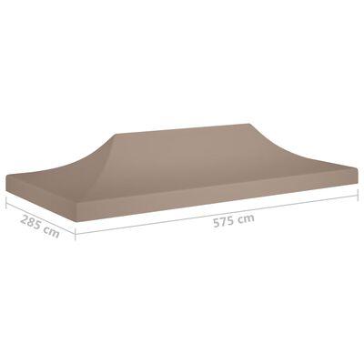 vidaXL Partytentdak 270 g/m² 6x3 m taupe