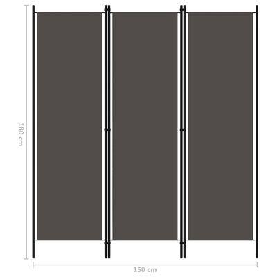 vidaXL Kamerscherm met 4 panelen 200x180 cm antraciet