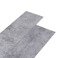 vidaXL Vloerplanken 5,26 m² 2 mm PVC cementgrijs