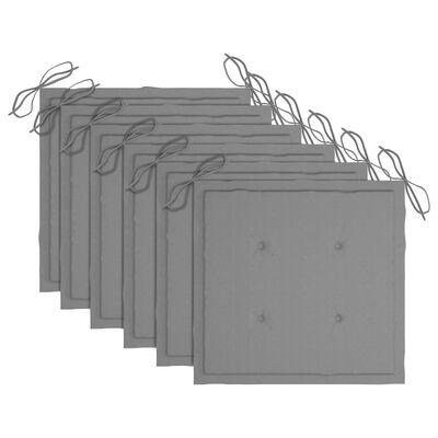 vidaXL Tuinstoelen 6 st met kussens massief acaciahout
