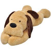 vidaXL Knuffelbeest hond 80 cm pluche bruin