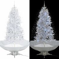 vidaXL Kerstboom sneeuwend met paraplubasis 190 cm wit
