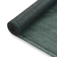 vidaXL Tennisscherm 2x50 m HDPE groen