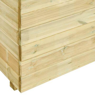 vidaXL Plantenbak verhoogd met bodem 100x50x75 cm grenenhout