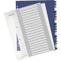 Leitz personaliseerbare tabbladen, 11-gaatsperforatie, 1-20 tabs