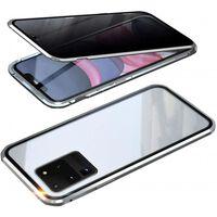 Mobiele hoes met dubbelzijdig gehard glas - Samsung S20 Ultra - zilver