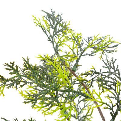 vidaXL Kunstplant met pot cipresboom 90 cm groen
