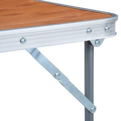 vidaXL Campingtafel inklapbaar met metalen frame 80x60 cm