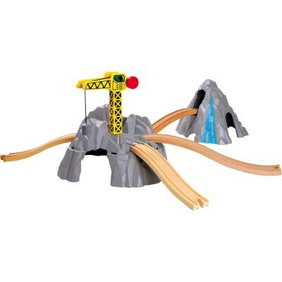 Small foot - Treinbaan berg - spoorwegen - Houten speelgoed vanaf 3