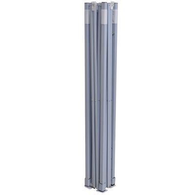 vidaXL Partytent professioneel inklapbaar 2x2 m staal antraciet