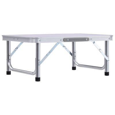vidaXL Campingtafel inklapbaar 60x45 cm aluminium wit