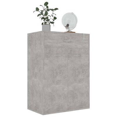 vidaXL Schoenenkast 60x35x84 cm spaanplaat betongrijs