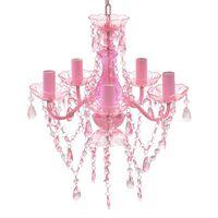 Kroonluchter Kristal Roze