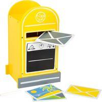 Small Foot houten brievenbus geel 18 x 15 x 30 cm