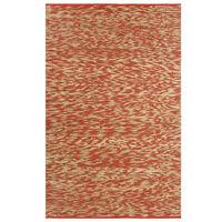 vidaXL Vloerkleed handgemaakt 160x230 cm jute rood en naturel