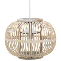 vidaXL Hanglamp bol 40 W E27 30x22 cm wilgen wit