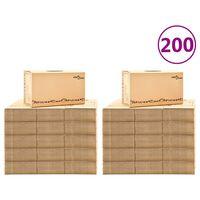 vidaXL Verhuisdozen 200 st XXL 60x33x34 cm karton