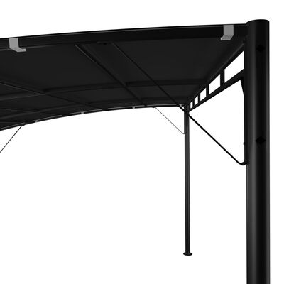 vidaXL Zonneluifel 4x3x2,55 m antracietkleurig