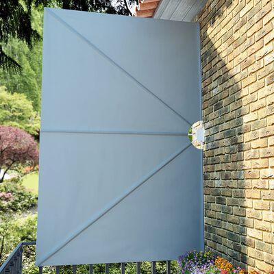 vidaXL Terrasscherm inklapbaar 300x200 cm grijs