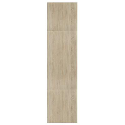 vidaXL Kledingkast 100x50x200 cm spaanplaat wit en sonoma eiken