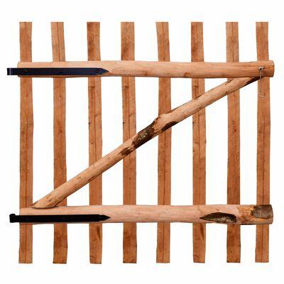 vidaXL Poort enkel 100x100 cm geïmpregneerd hazelaarhout