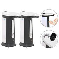 vidaXL Automatische zeepdispensers infraroodsensor 800 ml 2 st