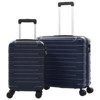 vidaXL 2-delige Harde kofferset ABS marineblauw