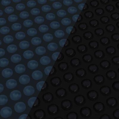vidaXL Zwembadfolie solar drijvend 455 cm PE zwart en blauw
