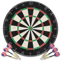 vidaXL Dartbord professioneel met 6 darts sisal