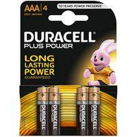 Duracell Plus Power AAA Batterij, LR03, Niet Oplaadbaar, 4 Stuks
