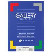 Gallery witte etiketten ft 70 x 38 mm (b x h), rechte hoeken, doos ...