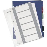 Leitz personaliseerbare tabbladen, 11-gaatsperforatie,1-6 tabs