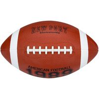 New Port American Football large 28 cm bruin/wit