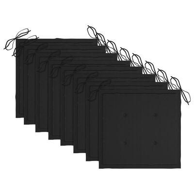 vidaXL Tuinstoelen 8 st inklapbaar met kussens massief acaciahout