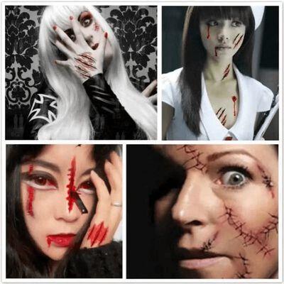 Doe Alsof Tattoo Halloween Wond / Litteken Motief