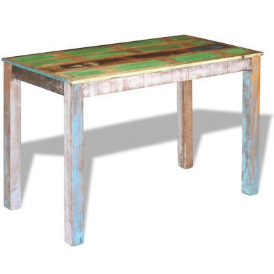 vidaXL Eettafel 115x60x76 cm massief gerecycled hout