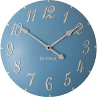 Wandklok NeXtime dia 24,5 cm poly resin, blauw, 'London'