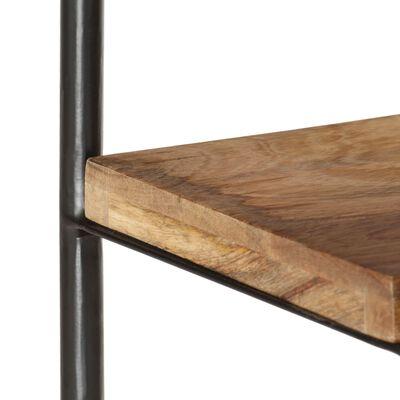 vidaXL Boekenkast 2 schappen 110x35x75 cm massief mangohout en staal