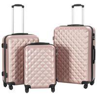 vidaXL 3-delige Harde kofferset ABS roségoud
